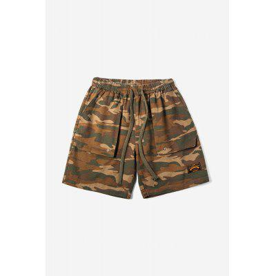 Fashionable Twill Camouflage Embroidered Cargo Shorts