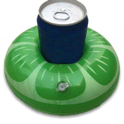 Inflatable Drink Holder Float Lemon Shaped Design
