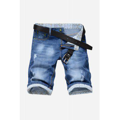 Popular Men Straight Leg Jeans Shorts
