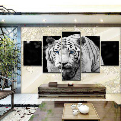 5PCS Printed Tiger Painting Canvas Print Room DecorPrints<br>5PCS Printed Tiger Painting Canvas Print Room Decor<br><br>Craft: Print<br>Form: Five Panels<br>Material: Canvas<br>Package Quantity: 5 x Print<br>Package size (L x W x H): 52.00 x 6.00 x 6.00 cm / 20.47 x 2.36 x 2.36 inches<br>Package weight: 0.1880 kg<br>Painting: Without Inner Frame<br>Product size (L x W x H): 100.00 x 50.00 x 1.00 cm / 39.37 x 19.69 x 0.39 inches<br>Product weight: 0.1280 kg<br>Shape: Horizontal Panoramic<br>Style: Animal<br>Subjects: Animal<br>Suitable Space: Bedroom,Dining Room,Hallway,Kids Room,Living Room,Pathway