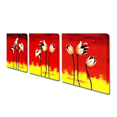 YHHP Abstract Hand Painted Flowers Oil PaintingOil Paintings<br>YHHP Abstract Hand Painted Flowers Oil Painting<br><br>Brand: YHHP<br>Craft: Oil Painting<br>Form: Three Panels<br>Material: Canvas<br>Package size (L x W x H): 42.00 x 42.00 x 15.00 cm / 16.54 x 16.54 x 5.91 inches<br>Package weight: 1.7300 kg<br>Painting: Include Inner Frame<br>Product size (L x W x H): 40.00 x 40.00 x 12.00 cm / 15.75 x 15.75 x 4.72 inches<br>Product weight: 1.3000 kg<br>Shape: Square<br>Style: Abstract<br>Subjects: Flower<br>Suitable Space: Bedroom,Hotel,Living Room,Office,Outdoor,Pathway