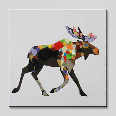 YHHP Fashion Flower Cattle Wall Art Decor Oil Painting