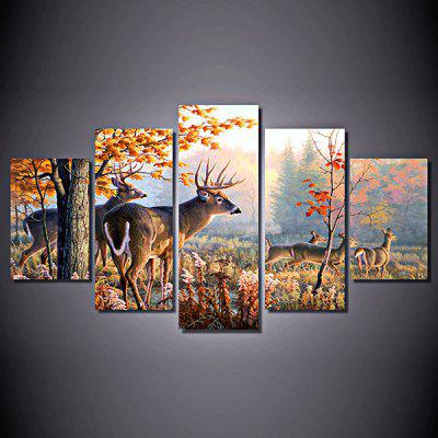 Canvas Modern Deer Art Decoration Print