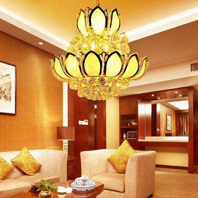 Home Lighting Lotus Shape LED Crystal Chandelier 220VChandelier<br>Home Lighting Lotus Shape LED Crystal Chandelier 220V<br><br>Battery Included: No<br>Bulb Base: E14<br>Bulb Included: No<br>Chain / Cord Adjustable or Not: Chain / Cord Adjustable<br>Chain / Cord Length ( CM ): 50 - 200cm<br>Features: Eye Protection<br>Fixture Height ( CM ): 50cm<br>Fixture Width ( CM ): 50cm<br>Light Direction: Downlight<br>Light Source Color: Warm White<br>Number of Bulb: 10 Bulbs<br>Number of Bulb Sockets: 10<br>Package Contents: 1 x Light, 1 x Assembly Parts<br>Package size (L x W x H): 60.00 x 60.00 x 60.00 cm / 23.62 x 23.62 x 23.62 inches<br>Package weight: 19.0500 kg<br>Product weight: 18.0000 kg<br>Remote Control Supported: No<br>Shade Material: Glass, Iron<br>Style: Modern/Contemporary<br>Suggested Room Size: 60? or more<br>Suggested Space Fit: Bedroom,Dining Room,Kitchen,Living Room,Study Room<br>Type: Chandeliers<br>Voltage ( V ): AC220