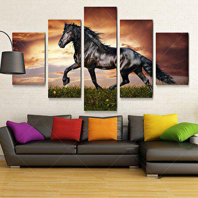 Canvas Black Horse Art Decoration Print