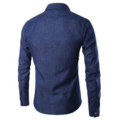 Men Fashion Button Down Long Sleeve Denim ShirtMens Shirts<br>Men Fashion Button Down Long Sleeve Denim Shirt<br><br>Material: Cotton, Polyester<br>Package Contents: 1 x Shirt<br>Package size: 40.00 x 30.00 x 2.00 cm / 15.75 x 11.81 x 0.79 inches<br>Package weight: 0.3300 kg<br>Product weight: 0.2500 kg