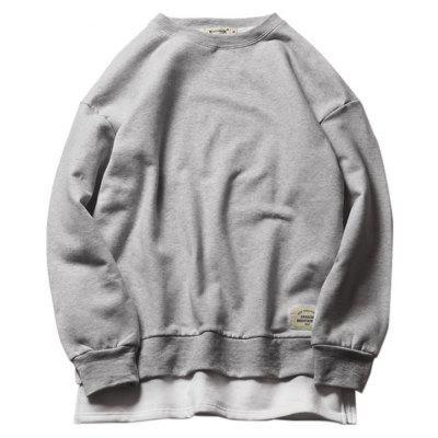 Fashion Round Collar Two Pieces Sports Sweatshirt