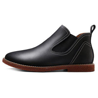Medium Top Fashion Ankle Boots for MenMens Boots<br>Medium Top Fashion Ankle Boots for Men<br><br>Closure Type: Slip-On<br>Contents: 1 x Pair of Shoes<br>Function: Slip Resistant<br>Materials: Rubber, Leather<br>Outsole Material: Rubber<br>Package Size ( L x W x H ): 30.00 x 18.00 x 12.00 cm / 11.81 x 7.09 x 4.72 inches<br>Style: Casual, Comfortable<br>Type: Boots<br>Upper Material: Leather