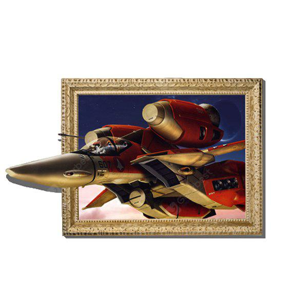 3D - 089 Airplane Style Wall Sticker