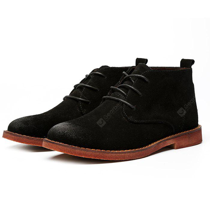 Medium Top Suede Casual Ankle Boots for Men