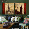 2pcs Tower Style Printing Canvas Wall Decoration - MULTI