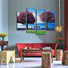 Flowers Tree Fishing Old Man Printing Canvas Wall Decoration - COLORMIX