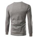 Buy Men Casual Long Sleeve Crew Neck Sports Sweatshirt M GRAY