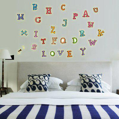 Fashion DIY Fluorescence English Letters Wall Sticker