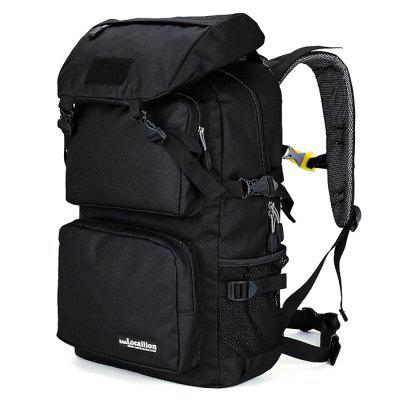 Buy BLACK Outdoor Large Capacity Water-resistant Sport Backpack for Climbing / Hiking for $40.74 in GearBest store