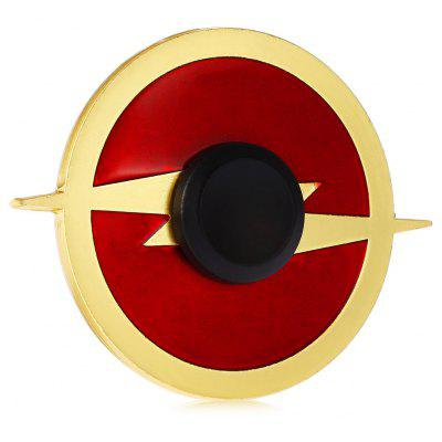 Round Flash Pattern Alloy ADHD Fidget Spinner