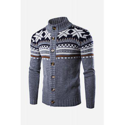 Men Casual Classical Retro Long Sleeve Sweater