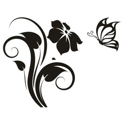 DIY Butterfly Flowers Wall Art Switch Sticker Wallpaper