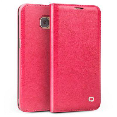 QIALINO Genuine Leather Ultra-slim Full Cover Phone Case for Samsung Galaxy S7