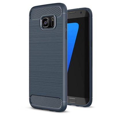 ASLING Carbon Fiber TPU Brushed Finish Case for Samsung Galaxy S7 Edge