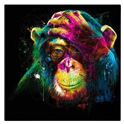 Colorful Orangutan Pattern Canvas Removable Wall Sticker