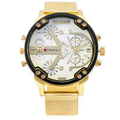 JUBAOLI W1139 Dual Movt WatchMens Watches<br>JUBAOLI W1139 Dual Movt Watch<br><br>Band material: Stainless Steel<br>Band size: 26 x 2.3cm<br>Brand: Jubaoli<br>Case material: Alloy<br>Clasp type: Pin buckle<br>Dial size: 5 x 5 x 1.2cm<br>Movement type: Double-movtz<br>Package Contents: 1 x Watch, 1 x Box<br>Package size (L x W x H): 8.50 x 8.00 x 5.30 cm / 3.35 x 3.15 x 2.09 inches<br>Package weight: 0.1650 kg<br>Product size (L x W x H): 26.00 x 5.00 x 1.20 cm / 10.24 x 1.97 x 0.47 inches<br>Product weight: 0.1100 kg<br>Shape of the dial: Round<br>Watch style: Fashion<br>Watches categories: Men<br>Water resistance: Life water resistant<br>Wearable length: 19 - 23.5cm
