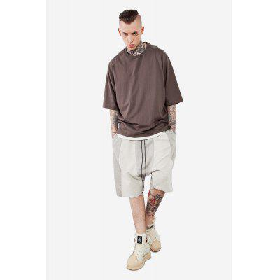 Fashionable Split Joint Drop Crotch Casual Shorts