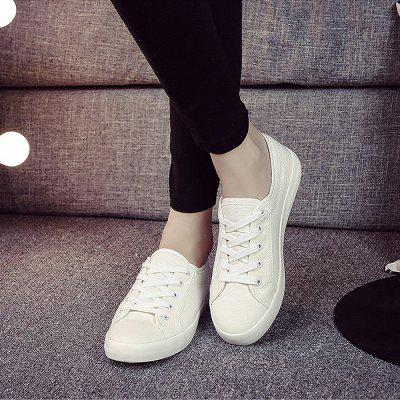 Chic Low Top Canvas Leisure Shoes for WomenWomens Sneakers<br>Chic Low Top Canvas Leisure Shoes for Women<br><br>Closure Type: Lace-Up<br>Contents: 1 x Pair of Shoes<br>Materials: Rubber, Canvas<br>Occasion: Casual, Daily<br>Outsole Material: Rubber<br>Package Size ( L x W x H ): 25.00 x 18.00 x 11.00 cm / 9.84 x 7.09 x 4.33 inches<br>Package Weights: 0.57kg<br>Seasons: Autumn,Spring,Summer<br>Style: Leisure, Comfortable, Casual<br>Type: Casual Shoes<br>Upper Material: Canvas