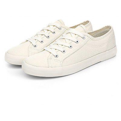 Chic Low Top Canvas Shoes de lazer para mulheres