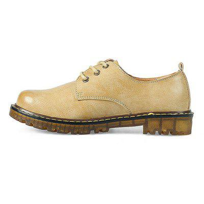 Vintage Flat Casual Leather Shoes for WomenWomens Sneakers<br>Vintage Flat Casual Leather Shoes for Women<br><br>Closure Type: Lace-Up<br>Contents: 1 x Pair of Shoes<br>Materials: EVA, Microfiber, TPR<br>Outsole Material: TPR<br>Package Size ( L x W x H ): 28.00 x 19.00 x 12.00 cm / 11.02 x 7.48 x 4.72 inches<br>Package Weights: 0.5kg<br>Seasons: Autumn,Spring<br>Style: Leisure, Casual<br>Type: Casual Leather Shoes<br>Upper Material: Microfiber