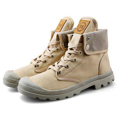 High Top Shoes de lona casual para mulheres