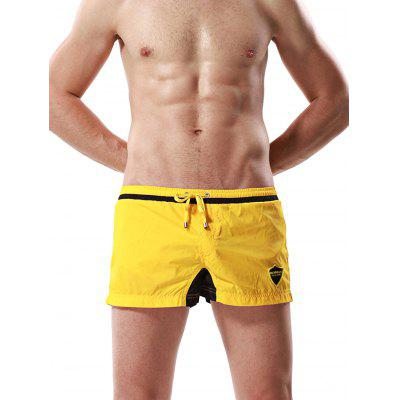 Male Casual Drawstring Breathable Sports Shorts