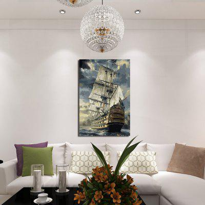 Buy COLORMIX 1PC Offshore Sailboat Printed Canvas Wall Sticker for $8.10 in GearBest store