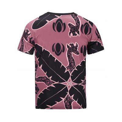 Faddish Printed Short Sleeves T-shirt for MenMens Short Sleeve Tees<br>Faddish Printed Short Sleeves T-shirt for Men<br><br>Material: Polyester<br>Neckline: Round Neck<br>Package Content: 1 x T-shirt<br>Package size: 30.00 x 35.00 x 2.00 cm / 11.81 x 13.78 x 0.79 inches<br>Package weight: 0.2500 kg<br>Product weight: 0.2100 kg<br>Season: Summer<br>Sleeve Length: Short Sleeves