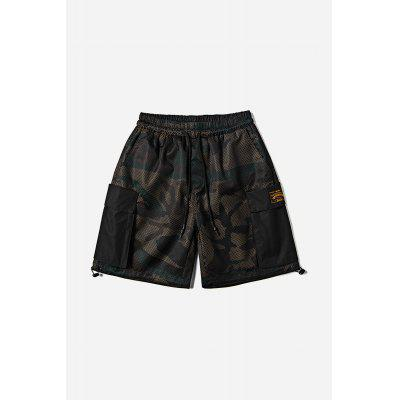 Disruptive Pattern Men Pockets Shorts