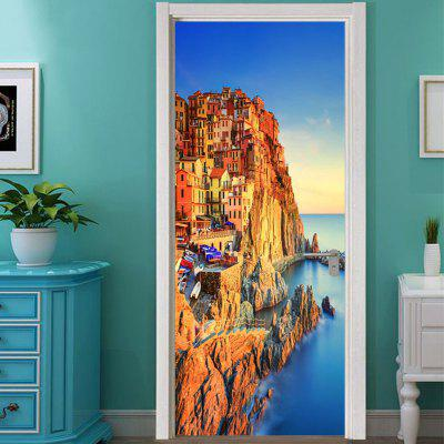 Italy Landscape Wall Art Door Sticker Wallpaper