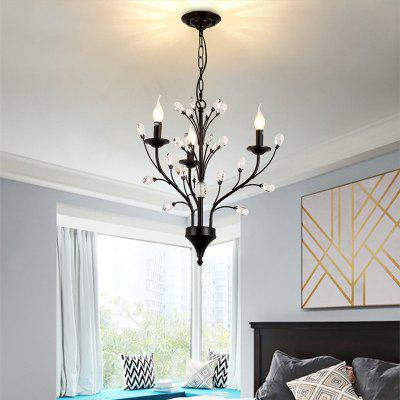LightMyself YQ1006 - 3 Crystal Chandelier Light
