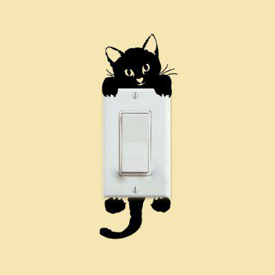 Little Cat Home Decor Switch Wall StickerWall Stickers<br>Little Cat Home Decor Switch Wall Sticker<br><br>Art Style: Plane Wall Stickers<br>Color Scheme: Black<br>Hang In/Stick On: Bathroom,Bedrooms,Hotels,Kids Room,Living Rooms<br>Material: Vinyl(PVC)<br>Package Contents: 1 x Wall Sticker<br>Package size (L x W x H): 7.00 x 5.00 x 5.00 cm / 2.76 x 1.97 x 1.97 inches<br>Package weight: 0.0400 kg<br>Product size (L x W x H): 17.00 x 7.00 x 0.10 cm / 6.69 x 2.76 x 0.04 inches<br>Product weight: 0.0100 kg<br>Subjects: Animal