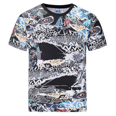 Chic Printed Short Sleeves T-shirt for Men