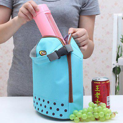 Fashion Dot Picnic Lunch Bag sikote fold cooler bag chair insulation lunch box tote bag waterproof crossbody food picnic bag lancheira termica marmitas