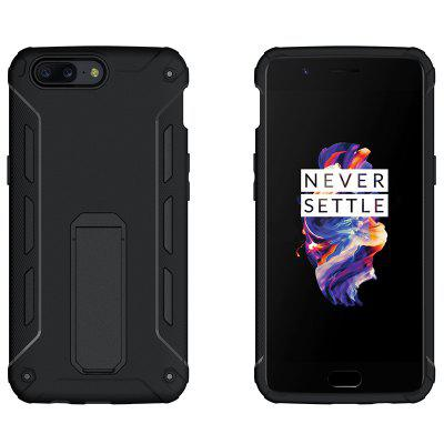 Luanke 2 in 1 Phone Bracket Protective Cover for OnePlus 5Cases &amp; Leather<br>Luanke 2 in 1 Phone Bracket Protective Cover for OnePlus 5<br><br>Brand: Luanke<br>Compatible Model: OnePlus 5<br>Features: Back Cover, Cases with Stand<br>Material: TPU, PC<br>Package Contents: 1 x Case<br>Package size (L x W x H): 21.00 x 13.00 x 1.80 cm / 8.27 x 5.12 x 0.71 inches<br>Package weight: 0.0683 kg<br>Product Size(L x W x H): 16.07 x 8.08 x 1.25 cm / 6.33 x 3.18 x 0.49 inches<br>Product weight: 0.0553 kg
