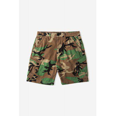 Male Fashionable Casual Multi Pocket Camouflage Cargo Shorts