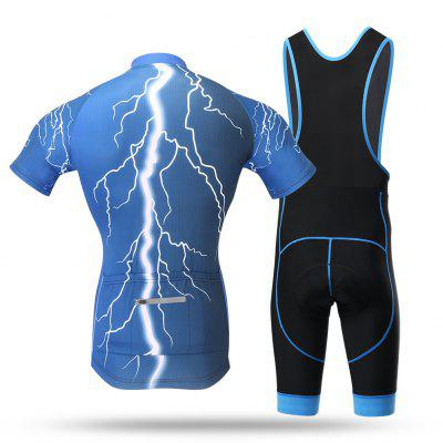 XINTOWN Male Quick-drying Short Sleeves Cycling SuitCycling Clothings<br>XINTOWN Male Quick-drying Short Sleeves Cycling Suit<br><br>Brand: XINTOWN<br>Material: Polyester, Spandex<br>Package Contents: 1 x Cycling Tops, 1 x Pants<br>Package size (L x W x H): 34.00 x 30.00 x 3.00 cm / 13.39 x 11.81 x 1.18 inches<br>Package weight: 0.4450 kg<br>Product size (L x W x H): 34.00 x 30.00 x 3.00 cm / 13.39 x 11.81 x 1.18 inches<br>Product weight: 0.4250 kg<br>Size: XXL