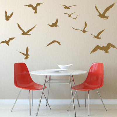 Buy BROWN Creative Bird Design DIY Wall Sticker for $4.87 in GearBest store