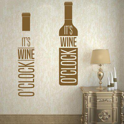 Buy BROWN Creative Red Wine Design DIY Wall Sticker for $4.41 in GearBest store