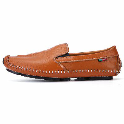 Male Solid Color Slip On Oxford Boat Doug Shoes