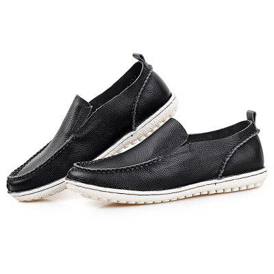 Male Casual Soft Slip On Stitching Oxford Boat Shoes