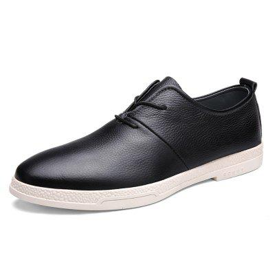 Male Casual Slip Resistance Stitching Lace Up Leather ShoesMen's Oxford<br>Male Casual Slip Resistance Stitching Lace Up Leather Shoes<br><br>Closure Type: Lace-Up<br>Contents: 1 x Pair of Shoes<br>Function: Slip Resistant<br>Materials: Rubber, Leather<br>Occasion: Casual, Daily<br>Outsole Material: Rubber<br>Package Size ( L x W x H ): 31.00 x 21.00 x 11.00 cm / 12.2 x 8.27 x 4.33 inches<br>Package Weights: 0.88kg<br>Pattern Type: Solid<br>Seasons: Autumn,Spring<br>Style: Modern, Leisure, Fashion, Comfortable, Casual<br>Toe Shape: Round Toe<br>Type: Casual Leather Shoes<br>Upper Material: Leather