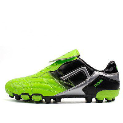 Male Athletic Lace Up Light Weight Soft Soccer Sneakers