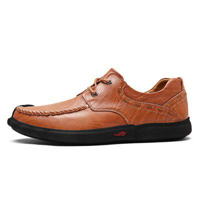 Classic Slip Resistance Stitching Oxford Shoes para homens